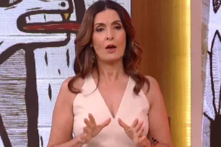 Ao vivo, Fátima Bernardes alerta repórter sobre uso de máscara no 'Encontro'