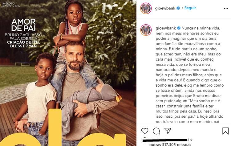 Giovanna Ewbank celebra Dia dos Pais e faz homenagem emocionante a Bruno Gagliasso