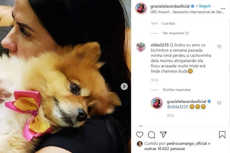 A noiva do cantor sertanejo Zezé e o comentário que fez em suas redes sociais - Reprodução: Instagram (Captura: Área VIP)