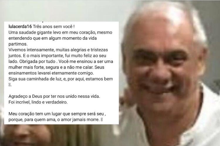 A publicação compartilhada pela jornalista, que é ex de Marcelo Rezende, que faleceu em 2017 - Reprodução: Instagram (Montagem e captura: Área VIP)
