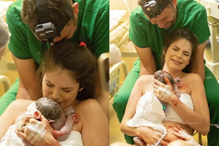 Débora Silva faz relato sobre nascimento do filho com Mano Walter