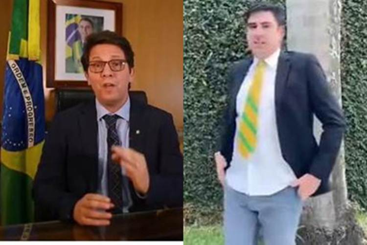 """Mário Frias se irrita com paródia de Marcelo Adnet: """"Garoto frouxo"""""""
