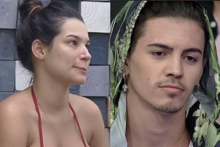 Raissa Barbosa e Biel em 'A Fazenda 12' - Reprodução (Montagem: Área VIP)