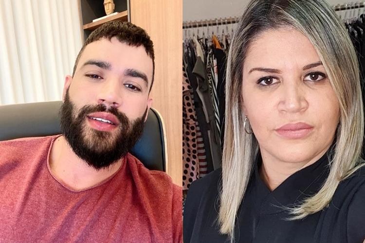 Sertanejo Gusttavo Lima e irmã Rose Lima foto Instagram montagem Area Vip