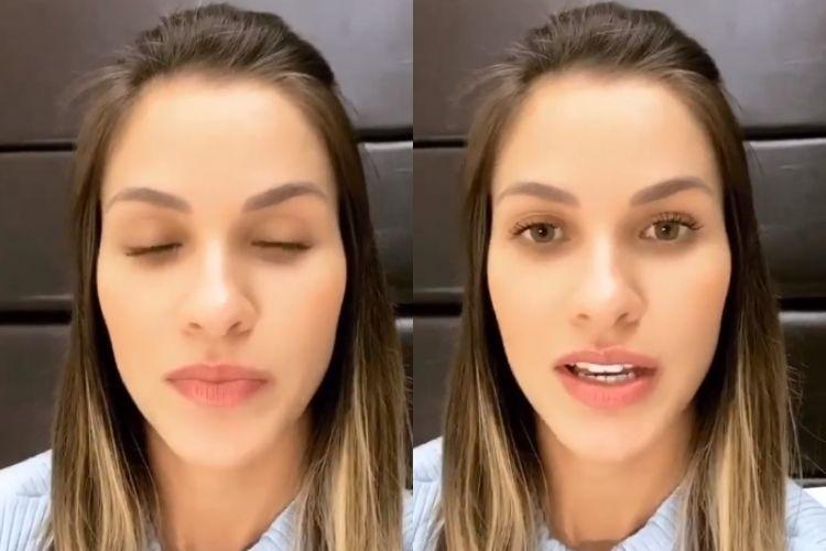 A modelo Andressa Suita - Reprodução: Instagram (Montagem: Área VIP)