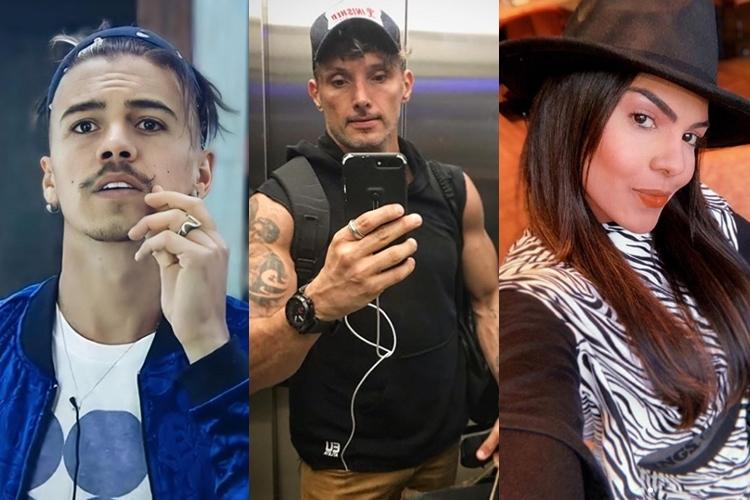 Biel, Juliano Cegalia, e a cantora Tays Reys foto reprodução instagram montagem Área Vip