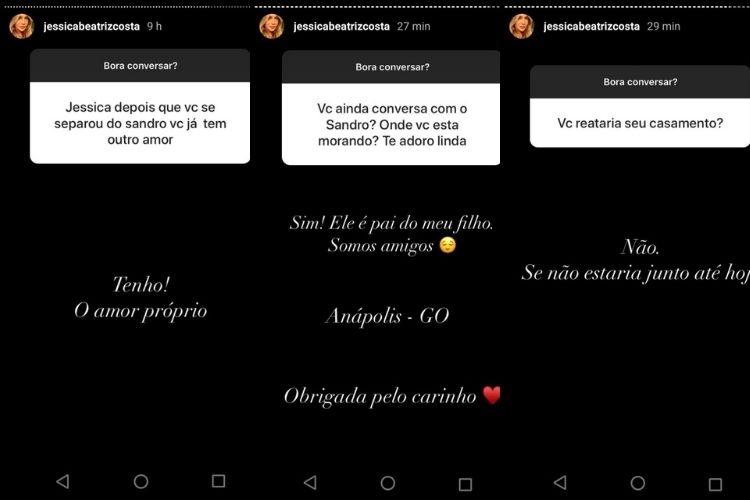 Alguma das publicações feitas por Jéssica Beatriz Costa, filha do ícone do estilo musical mais ouvido do Brasil - Reprodução: Instagram (Montagem e captura: Área VIP)