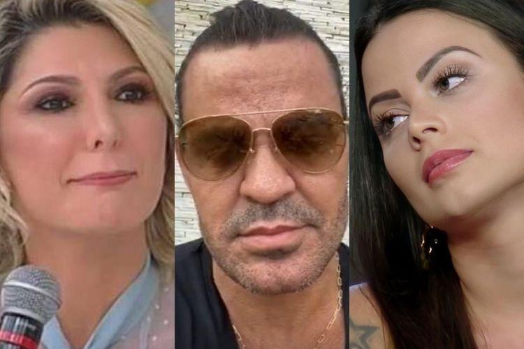 Eduardo Costa, Antonia Fontenelle e a ex - Reprodução: Instagram (Montagem: Área VIP)