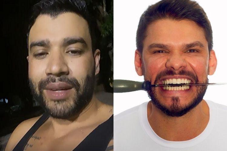 Gusttavo Lima e o irmão de Andressa Suita - Reprodução: Instagram (Montagem: Área VIP)