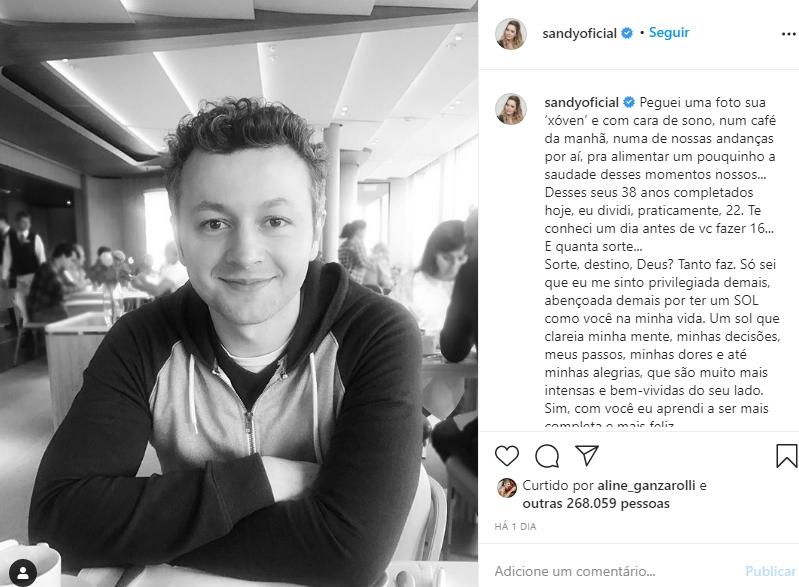 Lucas Lima foto reprodução Instagram da esposa Sandy
