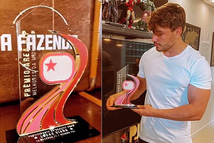 Lucas Viana recebe o Troféu Área VIP/ Instagram/Lucas Viana