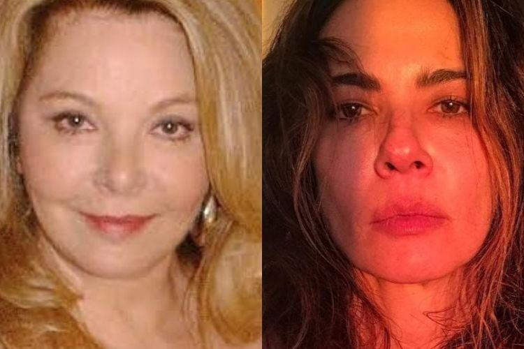 Mãe de Luciana Gimenez e ela - Reprodução: Instagram (Montagem: Área VIP)