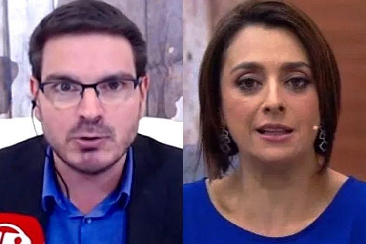 Cátia Fonseca e Rodrigo Constantino - Reprodução: Band e Jovem Pan (Montagem: Área VIP)