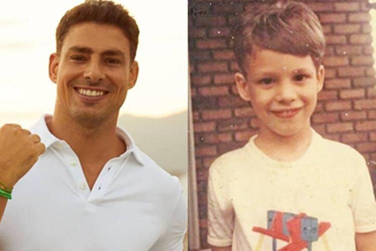Cauã Reymond encanta seguidores com 'tbt' da infância