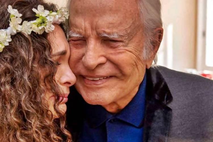 Aos 93 anos, Cid Moreira celebra 20 anos de casamento ao lado de Fátima Sampaio - Foto: Reprodução/Instagram@ocidmoreira