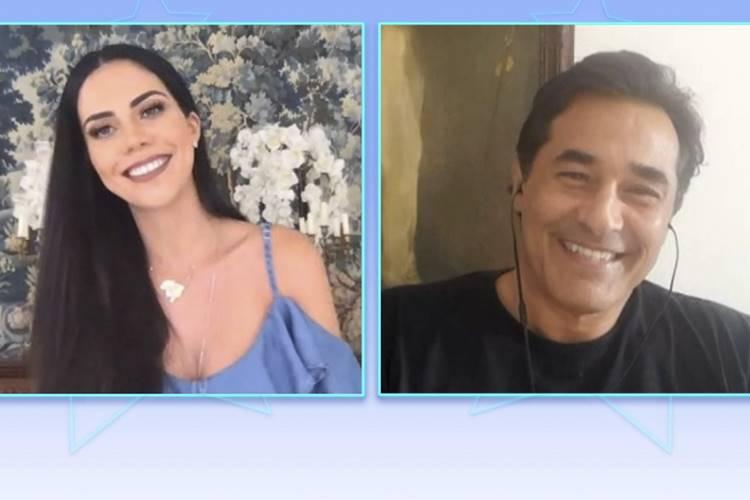 Daniela Albuquerque entrevista Luciano Szafir (Divulgação/RedeTV!)
