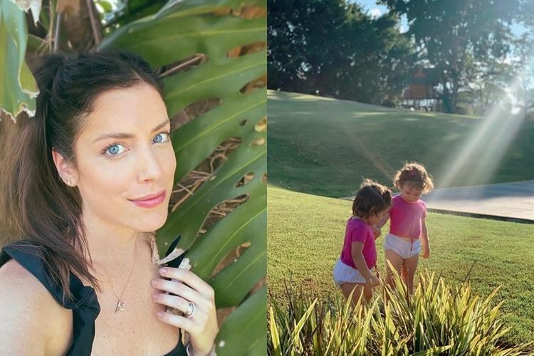 Fabiana Justus e filhas Chiara e Sienna