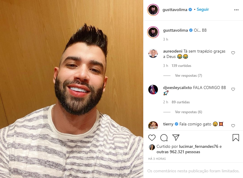Gusttavo Lima foto reprodução Instagram