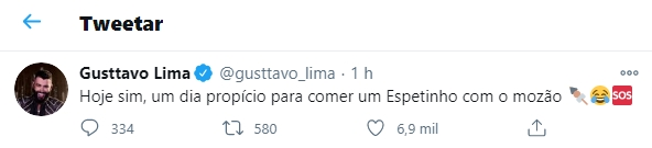 Gusttavo Lima foto reprodução Twitter