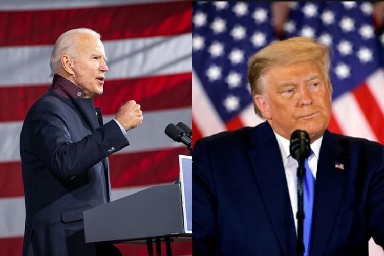 Joe Biden e Donald Trump foto reprodução Instagram e montagem Area Vip