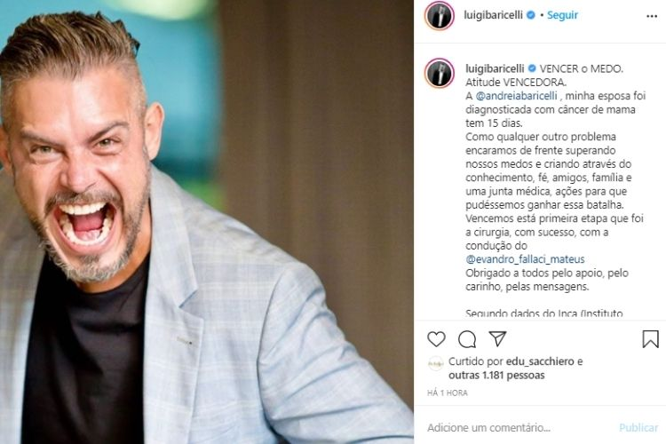 Luigi Baricelli - Reprodução: Instagram
