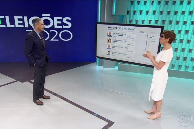 O cenário da TV Globo - Reprodução: TV Globo (Captura: Área VIP)