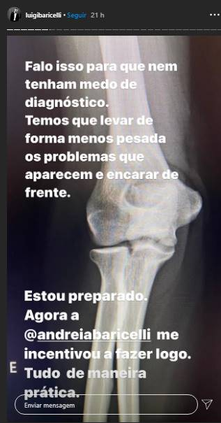 Cinco dia após cirurgia de esposa, Luigi Baricelli passa por operação - Foto: Reprodução/Instagram@luigibaricelli