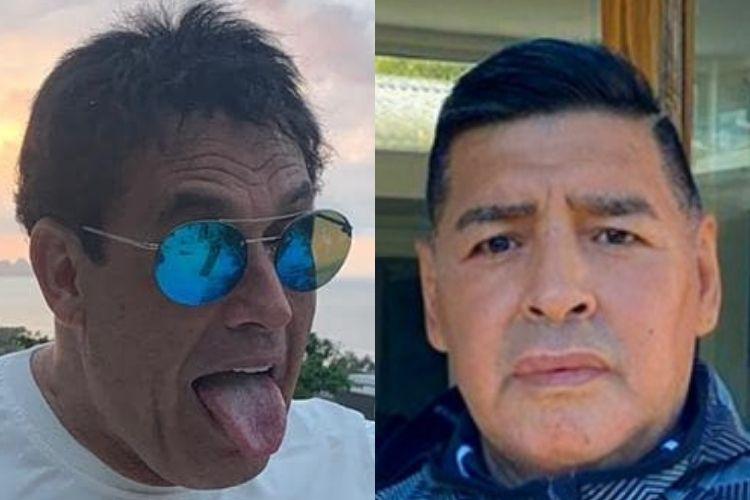Sérgio Mallandro revela que brigou com Maradona em um carnaval