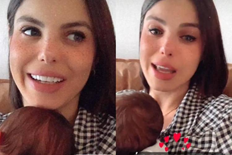 Sthefany Brito fala dos primeiros dias de maternidade e se emociona