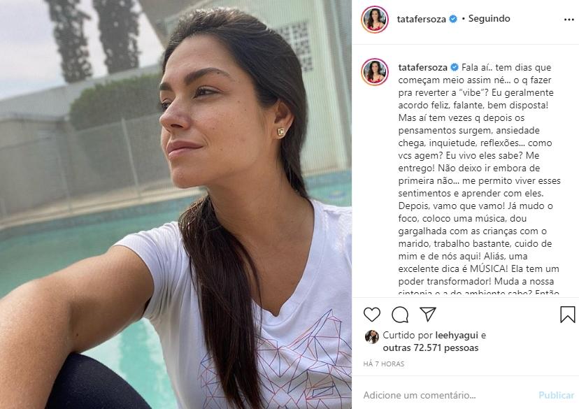 Tata Fersoza foto reprodução Instagram