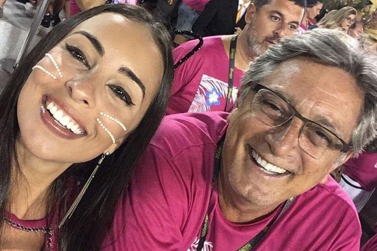 A filha de Eduardo Galvão e o ator - Reprodução: Instagram