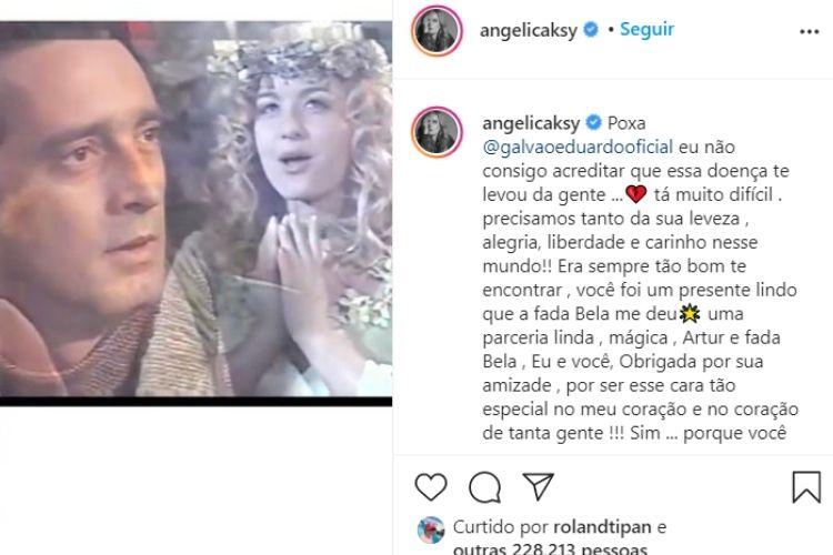 A homenagem que a apresentadora da TV Globo compartilhou para o amigo que faleceu - Reprodução: Instagram (Captura: Área VIP)