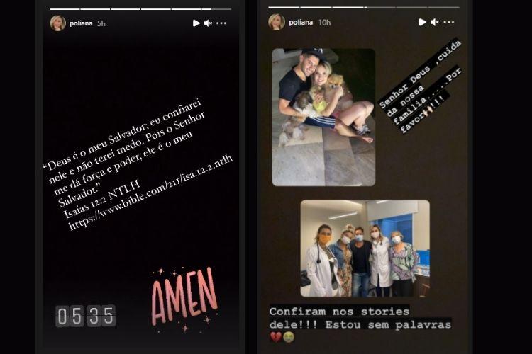 As publicações da mãe de Zé Felipe - Reprodução: Instagram (Montagem: Área VIP)