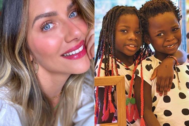 Giovanna Ewbank encanta web ao compartilhar 'momento preguiça' de Titi e Bless