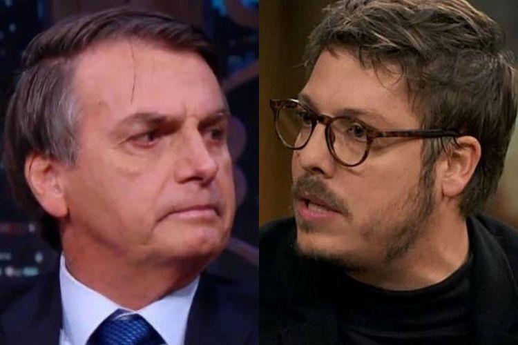 Jair Bolsonaro e Fabio Porchat - Reprodução: TV Globo e SBT (Montagem: Área VIP)
