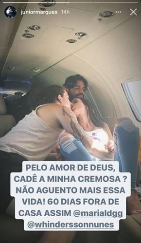 Júnior Marques, Whindersson Nunes e Maria Lina Deggan/ Instagram