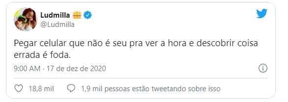 Após celebração de 1 anos de casamento, fãs especulam crise no relacionamento de Ludmilla e Brunna Gonçalves - Foto: Reprodução/Twitter