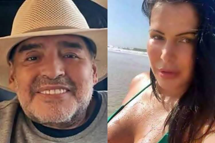 Affair brasileira de Maradona relembra noitada que passou com o ícone do futebol argentino - Foto: Reprodução/Instagram/Montagem ÁreaVIP