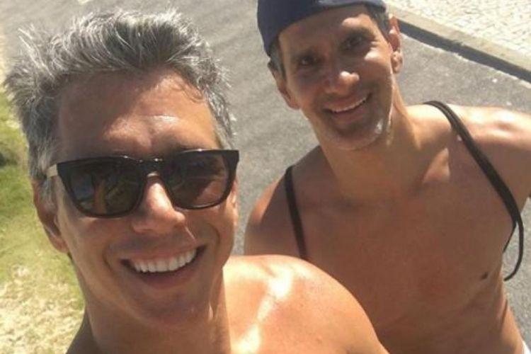 Márcio Garcia e o irmão - Reprodução: Instagram