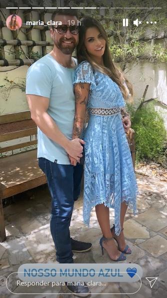 Após polêmica separação, Marlon comemora aniversário de Maria Clara, atual namorada que está grávida - Foto: Reprodução/Instagram