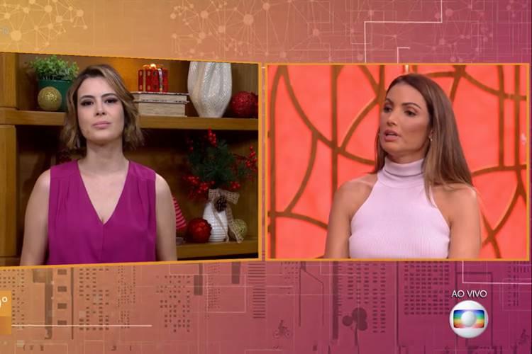 Michelle Loreto e Patrícia Poeta/ Reprodução TV Globo