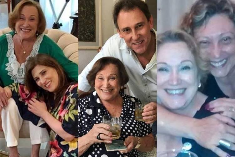 Filhos de Nicette Bruno postam homenagens à mãe, internada com Covid-19 - Foto: Reprodução/Instagram/Montagem ÁreaVIP