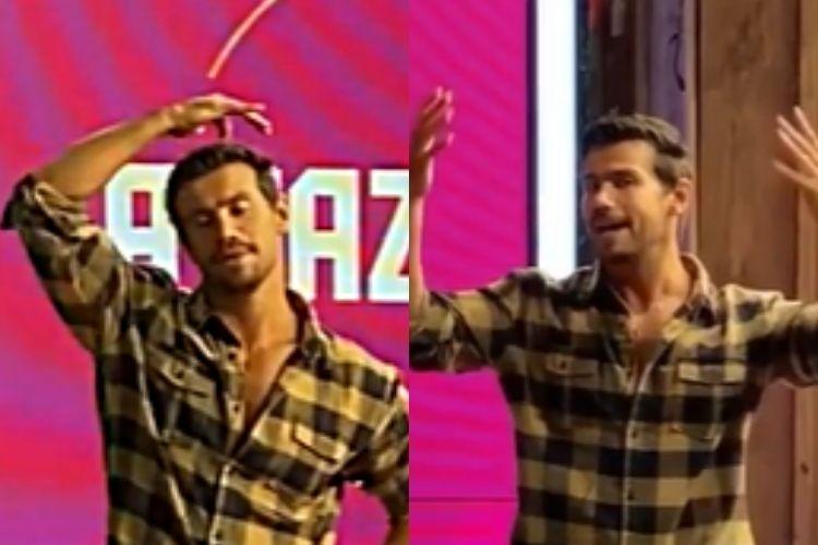 O cantor sertanejo Mariano, minutos após ser eliminado do reality show rural da TV Record - Reprodução: Instagram (Montagem: Área VIP)