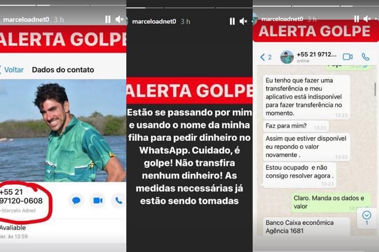 """Marcelo Adnet é vítima de golpe e se irrita: """"Estão usando o nome da minha filha"""" - Foto: Reprodução/Instagram"""