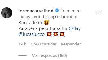Lucas Lucco rebate fã que achou 'falta de respeito' clipe com ex-BBB Flay - Foto: Reprodução/instagram