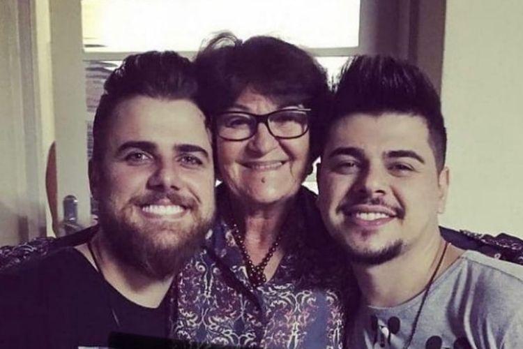 Zé Neto, Cristiano e a mãe, Dona Zenaide - Reprodução: Instagram