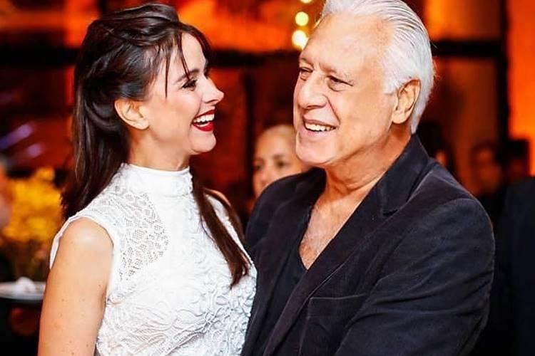 Antônio Fagundes e Alexandra Martins/ Instagram