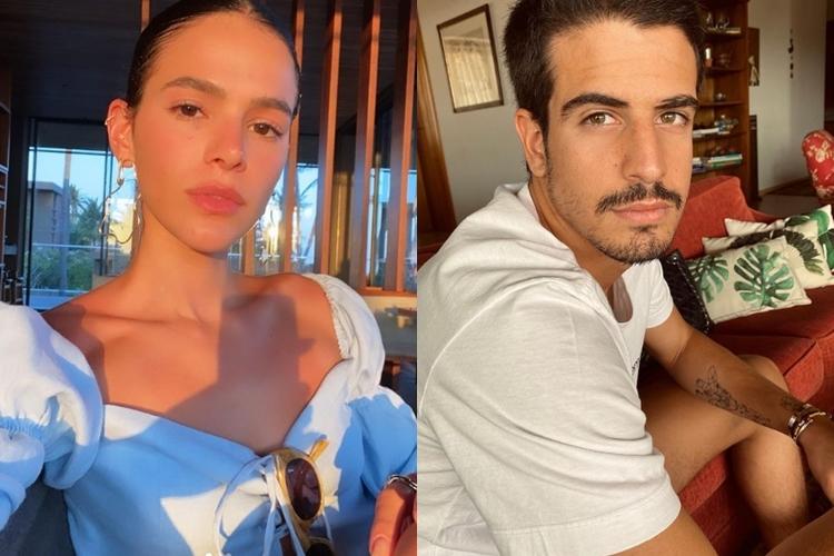 Bruna Marquezine e Enzo Celulari foto reprodução Instagram montagem Area Vip