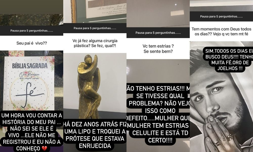 O comentário feito pela esposa do cantor sertanejo Leonardo - Poliana Rocha (Montagem: Área VIP) Reprodução: Instagram