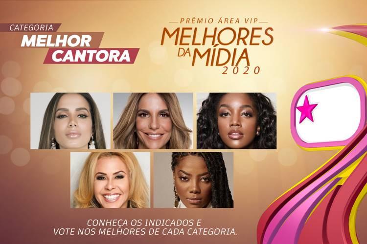 Qual foi a Melhor Cantora de 2020? – Vote no Prêmio Área VIP!
